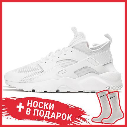 Мужские кроссовки Nike Air Huarache Ultra BR Triple White 833147-100, Найк Аир Хуарачи, фото 2