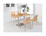 Опора для стола двойная Днестр нержавейка, h72 см, 40х70 см, фото 3