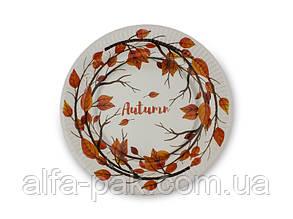 Тарелка бумажная круглая Осень D23