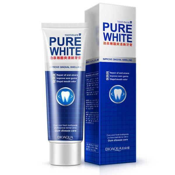 Зубная паста отбеливающая Bioaqua Toothpaste Fresh Mint Pure White (120г)