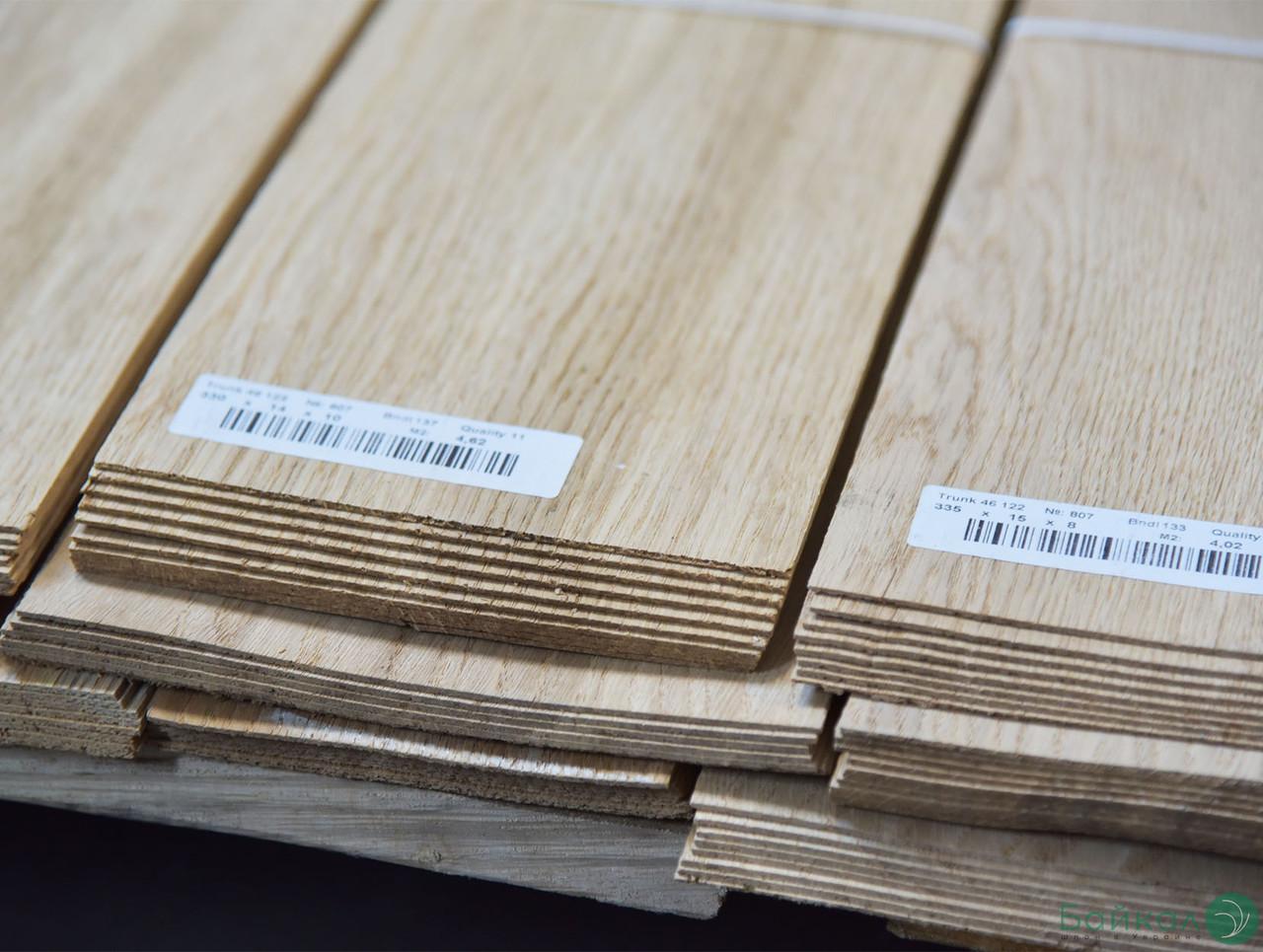 Шпон Дуба - 1,5 мм В сорт - от 2,10 м+/от 9 см+ (натуральный)