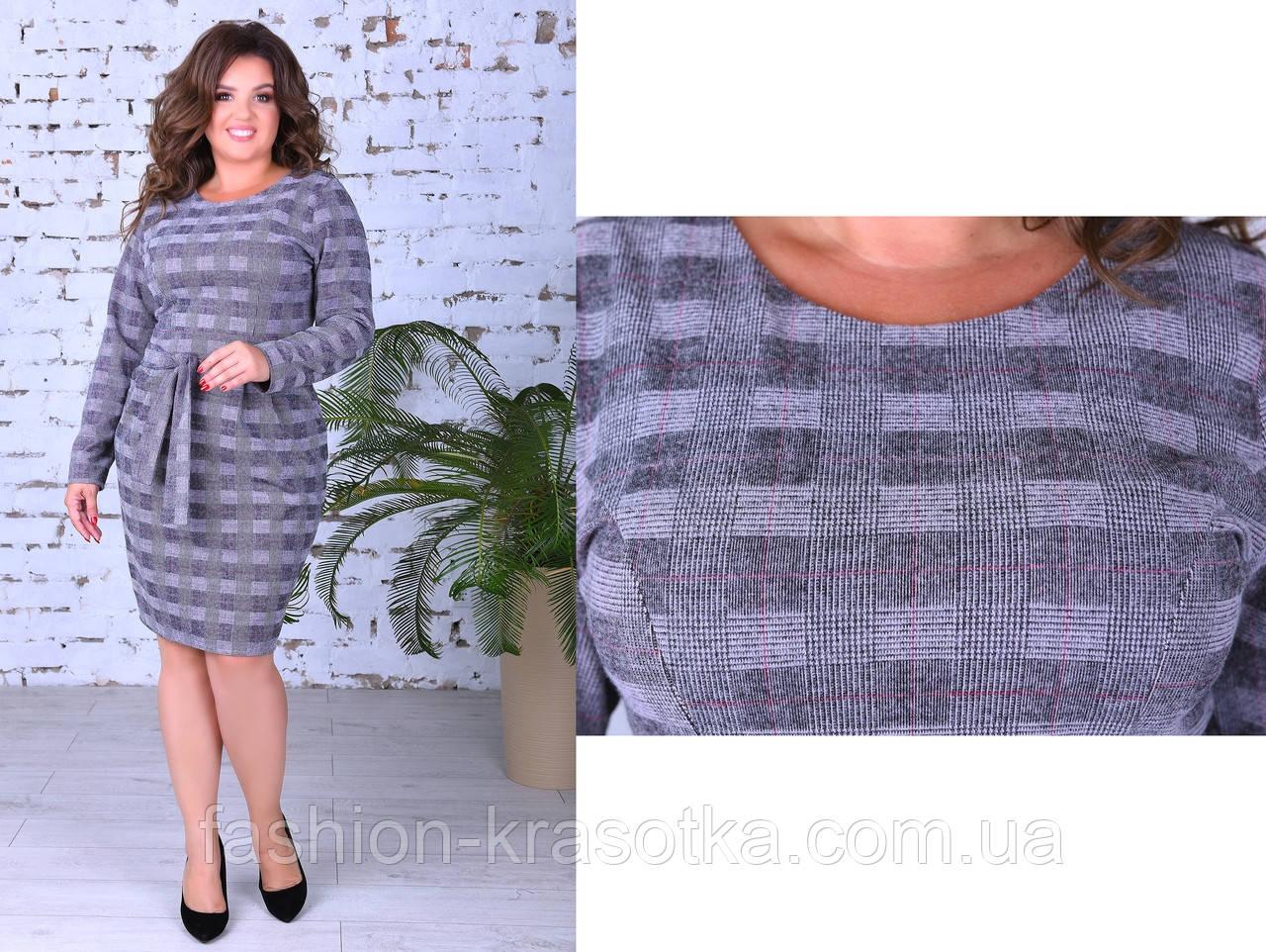 Нарядное женское теплое платье,размеры:50,52,54.