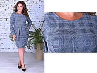 Модное женское теплое платье,размеры:50,52,54., фото 1