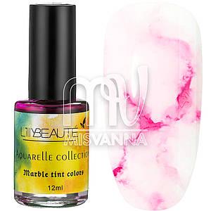 Акварельные капли Aquarelle Collection Lilly Beaute №01, 12 мл нежно-розовый
