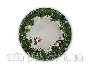 Тарелка бумажная круглая Джунгли D23