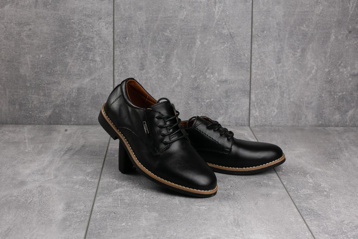 Туфли подростковые натуральная кожа Yuves М5 (Trade Mark)  чёрный