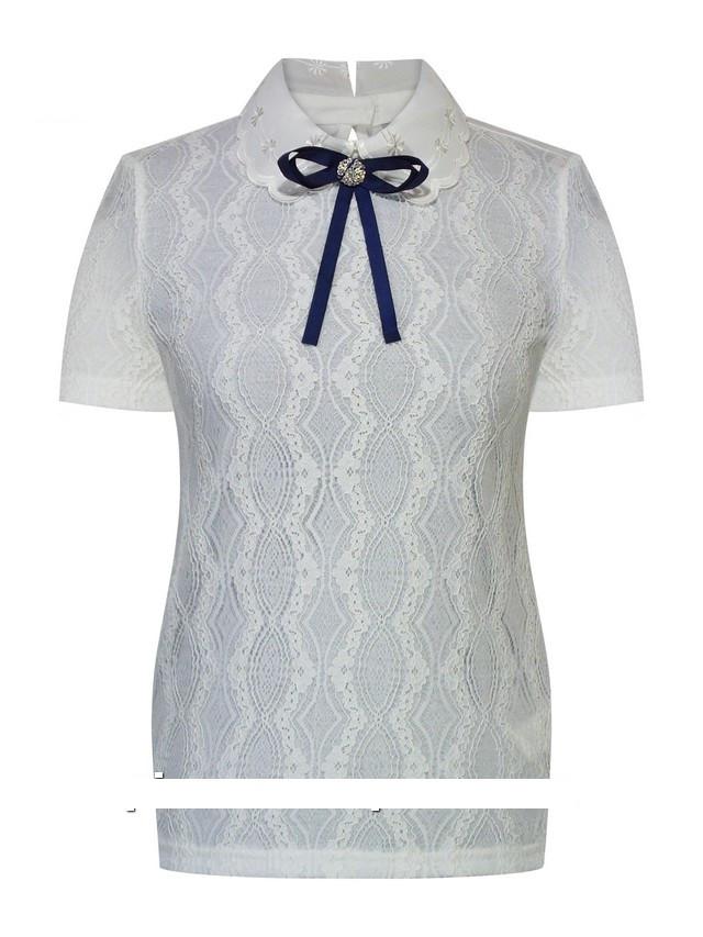 Детская школьная блуза для девочки с коротким рукавом от Deloras 62107 | 122-152р.