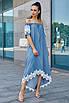 Платье с  асимметричное с поясом, фото 4
