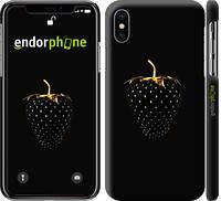 """Чехол на iPhone X Черная клубника """"3585c-1050-716"""""""