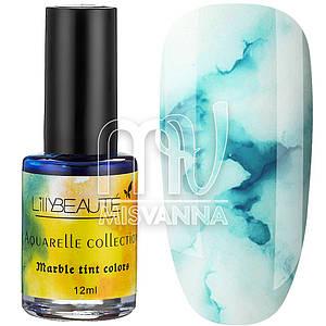 Акварельные капли Aquarelle Collection Lilly Beaute №02, 12 мл голубой
