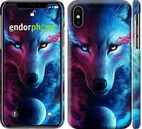 """Чехол на iPhone X Арт-волк """"3999c-1050-716"""""""