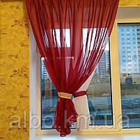 Гардина для спальни из шифона ALBO 300x170 cm Бордовая (KU-139-15), фото 3