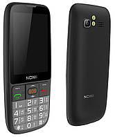 Кнопочный телефон номи бабушкофон с мощной батареей и большим дисплеем на 2 симки Nomi i281 Black