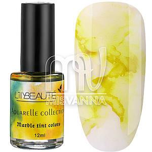 Акварельные капли Aquarelle Collection Lilly Beaute №03, 12 мл желтый