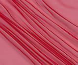 Тюль вуаль (шифон), цвет красный, фото 2