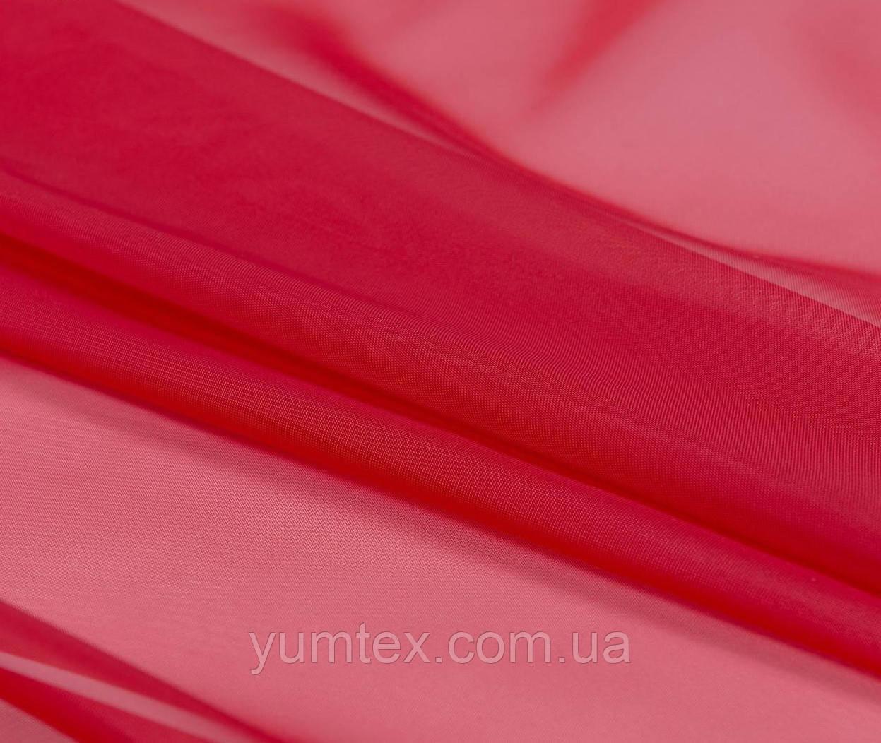 Тюль вуаль (шифон), цвет красный