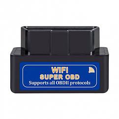Диагностический сканер OBD2  ELM327 WiFi v 1.5 чип PIC18F25K80 Черный hubIfOd10161, КОД: 1079500