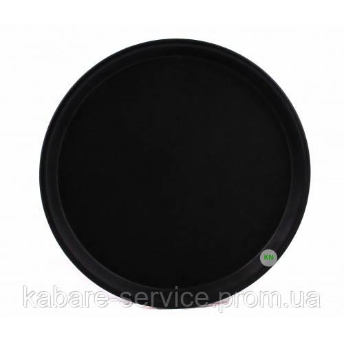 Поднос Антислип,  нескользящее покрытие, Co-Rect, 28 см, черный