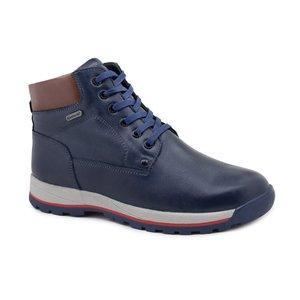 Зимние кожаные ботинки размеры 35,36 синий