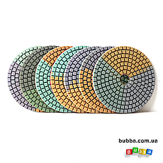 Алмазный гибкий шлифовальный круг ЧЕРЕПАШКА, АГШК зернистость 30, d 100мм, фото 3