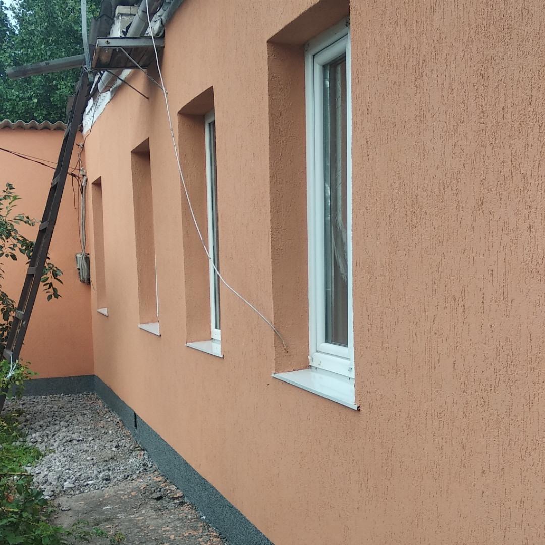 Утепление фасадов домов пенопластом ватой короед барашек штукатурка Киев
