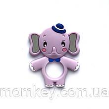 Слоник з шапочкою (бузковий)