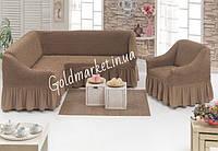 Чехол на угловой диван и кресло универсальный 1'335грн