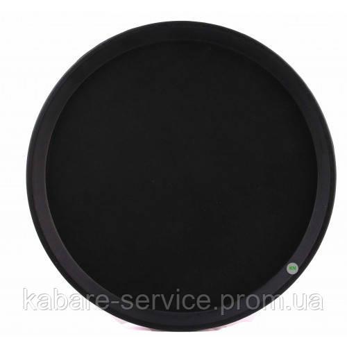 Поднос Антислип,  нескользящее покрытие, Co-Rect, 36 см, черный