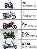 Моточехол. Чохол для мотоцикла, скутера. Розмір XXXL | 265x105x125 в асортименті, фото 4