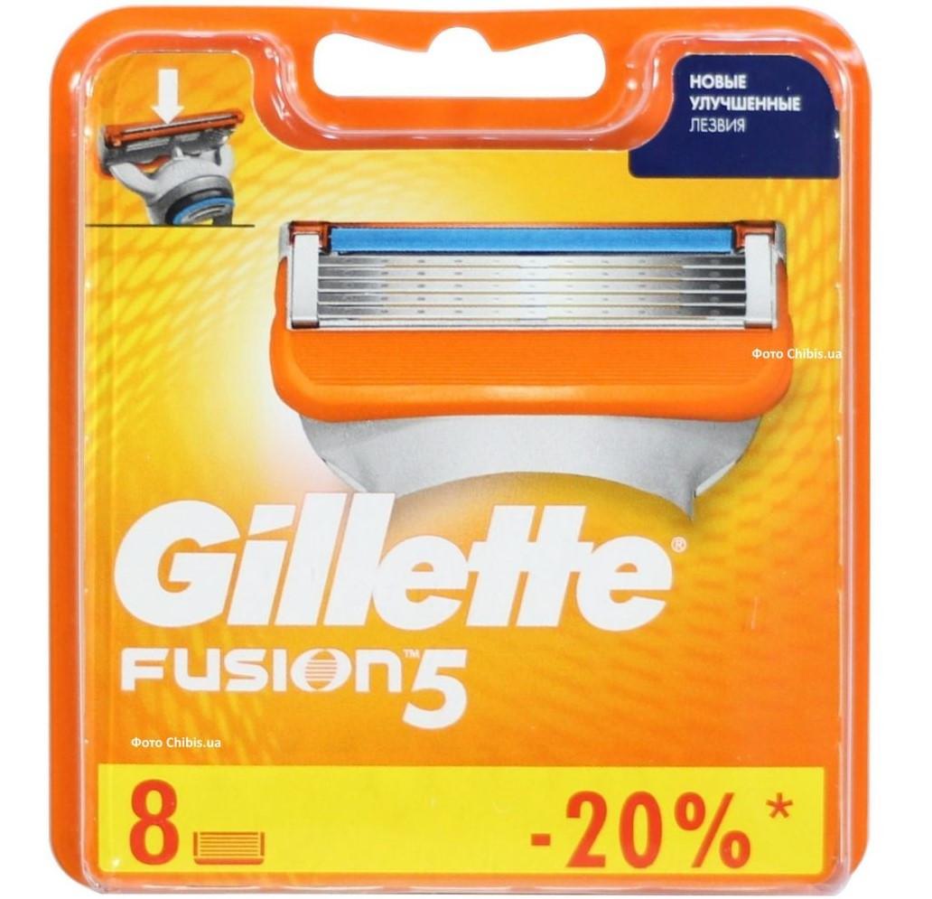 Сменные кассеты Gillette Fusion Original (8 шт) G0035
