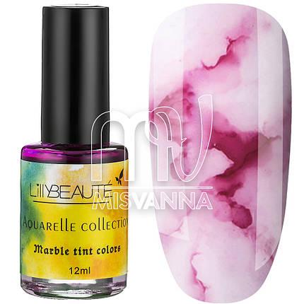 Акварельні краплі Aquarelle Collection Lilly Beaute №06, 12 мл фуксія, фото 2