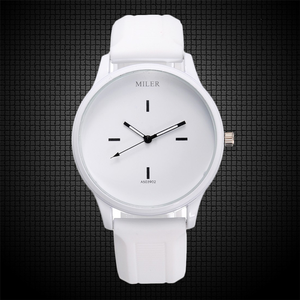 Кварцевые часы Miler (white) - гарантия 6 месяцев