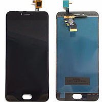 Дисплей для мобильного телефона Meizu M3 / черный / с тачскрином