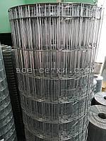 Сварная оцинкованная сетка для забора. Ячейка: 75х50мм., Ø 2,0мм, Ширина: 1,8м., фото 1