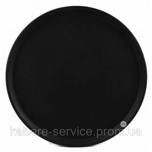 Поднос Антислип,  нескользящее покрытие, Co-Rect, 46 см,черный