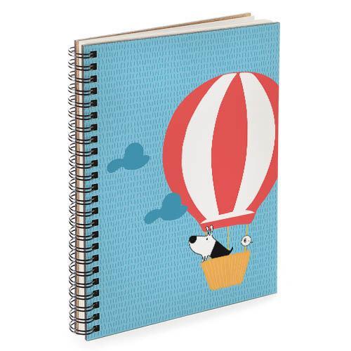 Блокнот Sketchbook Собачка на воздушном шаре А5 (BDP_DOG012)