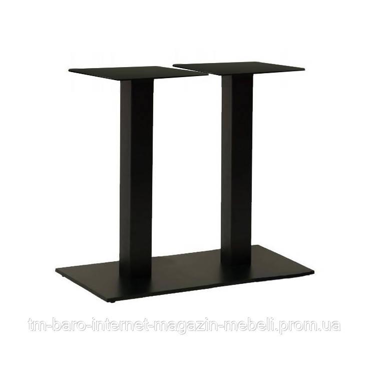 Опора для стола двойная Рона, черный h72см, 40х70 см