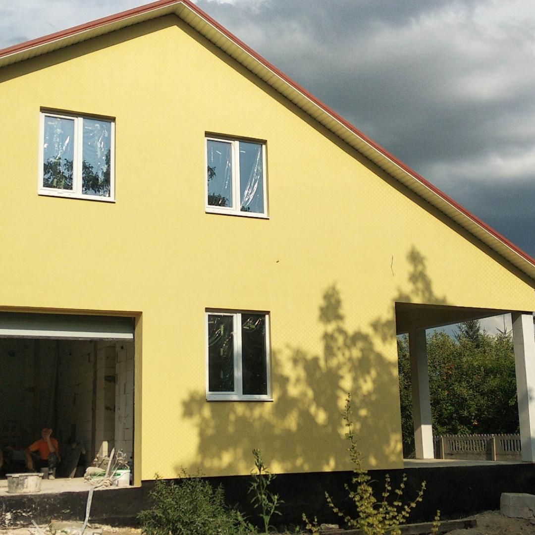 Утепление фасадов домов пенопластом ватой короед барашек, фото 1