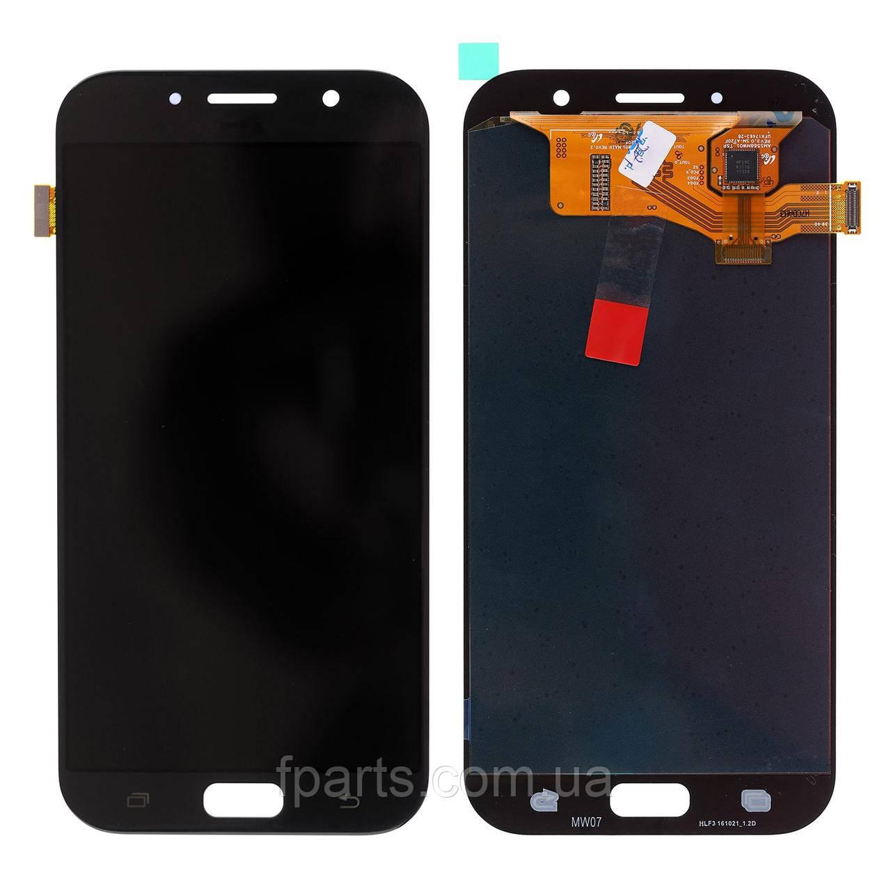 Дисплей для Samsung A720 Galaxy A7 2017 с тачскрином, Black (OLED)