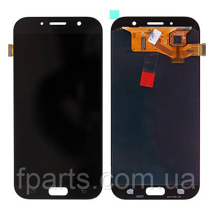 Дисплей для Samsung A720 Galaxy A7 2017 с тачскрином, Black (OLED), фото 2