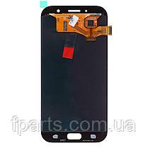 Дисплей для Samsung A720 Galaxy A7 2017 с тачскрином, Black (OLED), фото 3