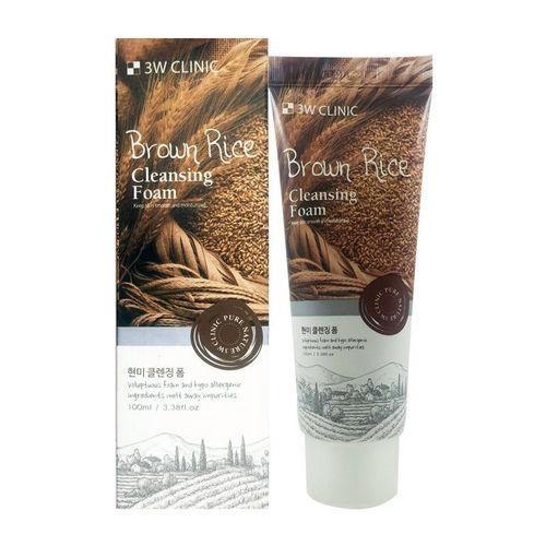 Пенка для умывания с экстрактом коричневого риса3W Clinic Brown Rice Foam Cleansing