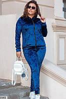 Спортивный костюм женский демисезонный турецкий велюр 48-54 размеров, 2 цвета
