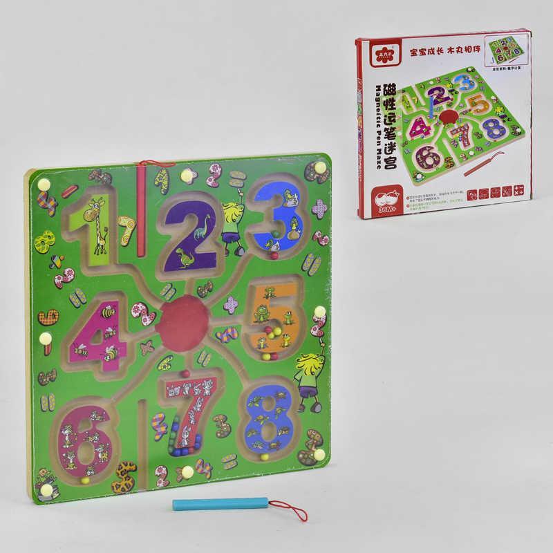 """Деревянная игра """"Лабиринт"""" С 35806 (60) магнитный, в коробке"""