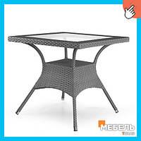 Стол из искусственного ротанга Ливорно Мебель из ротанга, столы для террасы, сада, оптом.