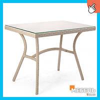 Стол из ротанга со стеклом,Ультра Мебель из ротанга, столы для кафе, бара, ресторана, террасы, сада