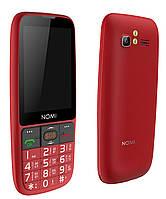 "Бабушкофон Nomi i281 Red красный (2SIM) 2,8"" 64/64МБ 0.3Мп 1400 мАч Гарантия!"