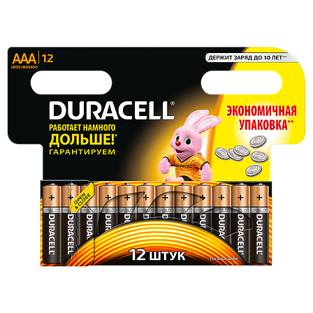 Батарейка DURACELL AAA (LR03) MN2400 12шт., фото 2