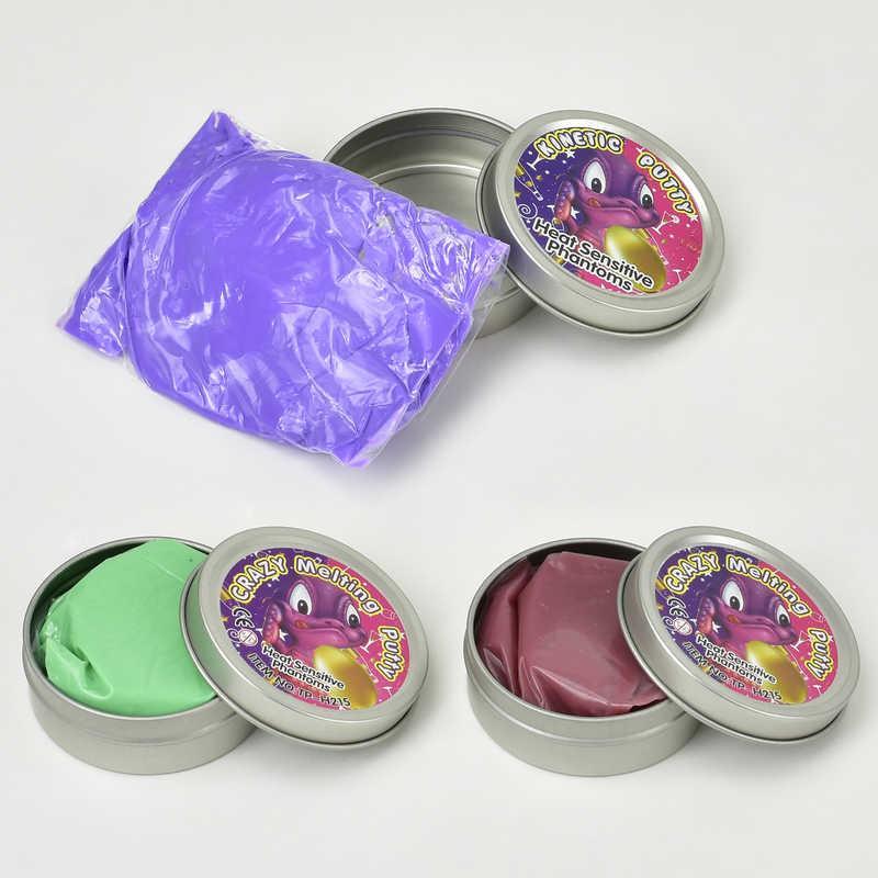 Жвачка для рук С 23193 /ЦЕНА ЗА 1 ШТУКУ/ (480) 3 цвета, меняет цвет от тепла рук, 35 грамм, 12шт в упаковке