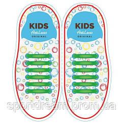 Силиконовые антишнурки AntiLaces Kids 12 шт салатовый KG38